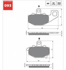 Тормозные колодки задние GOLD FREN AD 093 / FA192