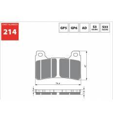 Тормозные колодки GOLD FREN Sintered S3 214 (FA390)
