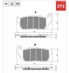 Тормозные колодки передние Harley Davidson Sportster GOLD FREN Sintered S3 272 / FA381