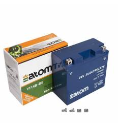 Аккумулятор YT14B 4 (YT14B BS) GEL Atom гелевый
