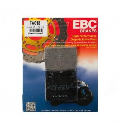 Тормозные колодки задние EBC FA018