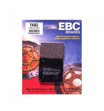 Тормозные колодки задние EBC FA063