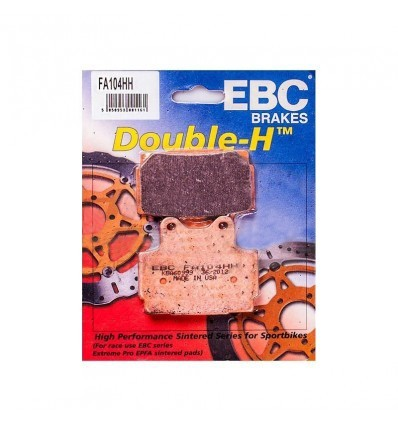 Тормозные колодки задние EBC FA104 HH DOUBLE H Sintered